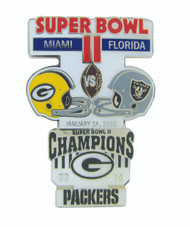 Super Bowl II (2) Commemorative Lapel Pin