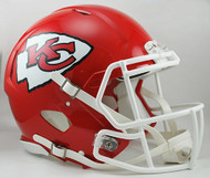 Kansas City Chiefs NEW Riddell Full Size Authentic SPEED Helmet