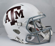 Texas A&M White SPEED Riddell Full Size Replica Helmet