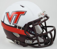 Virginia Tech Hokies NCAA Mini Speed Football Helmet - Alternate White Effect
