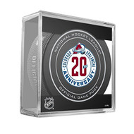 Colorado Avalanche Special 20th Anniversary (2015-16) Sherwood Official NHL Game Puck in Cube