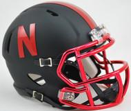 Nebraska Cornhuskers Black Chrome Alternate Revolution SPEED Mini Helmet