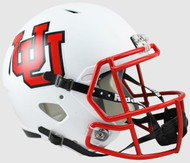 Utah Utes Alternate White SPEED Riddell Full Size Replica Helmet