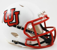 Utah Utes Alternate White Interlocking U Revolution NCAA SPEED Mini Helmet