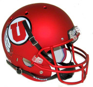 Utah Utes Alternate 9 SATIN RED Schutt Full Size Replica Helmet