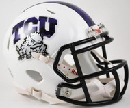 TCU Texas Christian Horned Frogs Alternate White with Black Mask NCAA Revolution SPEED Mini Helmet
