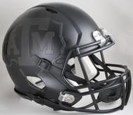 Texas A&M Aggies Alternate BlackOut Matte Black NCAA Riddell SPEED Mini Helmet