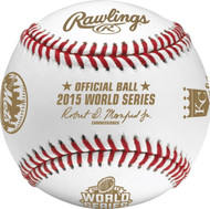 2015 World Series MLB Rawlings Dueling Official Baseball with Royals & Mets Team Logos in Cube