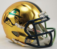 Notre Dame Fighting Irish 2015 HydroSkin Boston NCAA Riddell Speed Hydrofx Mini Helmet