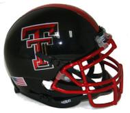 "Texas Tech Red Raiders Alternate ""Guns Up"" Chrome Mask Schutt Mini Authentic Helmet"