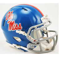 Mississippi (Ole Miss) Rebels Alternate Powder Blue NCAA Riddell SPEED Mini Helmet