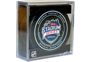 2016 NHL Stadium Series Minnesota Official Game Puck in Cube - Blackhawks vs. Wild