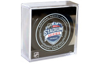 2016 NHL Stadium Series Colorado Official Game Puck in Cube - Red Wings vs. Avalanche
