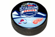 2016 NHL Stadium Series Colorado Dueling Souvenir Game Puck - Red Wings vs. Avalanche