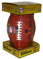 Super Bowl 50 Official Leather Authentic Game Football by Wilson