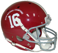 Alabama Crimson Tide 2015 FBS National Champions Schutt #16 Full Size Replica Helmet