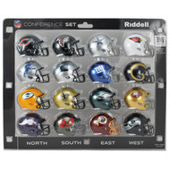 16 NFL Pocket Pro Size Speed Mini Helmets - NFC Set by Riddell