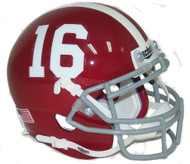 Alabama Crimson Tide #16 Schutt Mini Authentic Helmet