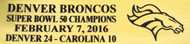 Denver Broncos Super Bowl 50 Champions Football Display Case