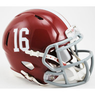 Alabama Crimson Tide #16 NCAA Riddell Speed Mini Helmet