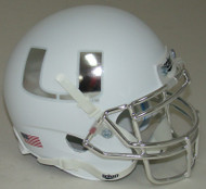 Miami Hurricanes Alternate White Chrome Schutt Mini Authentic Helmet