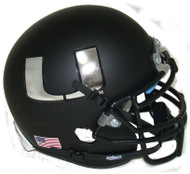 Miami Hurricanes Alternate Black Chrome Schutt Mini Authentic Helmet