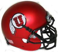 Utah Utes Satin Red Alternate 11 Schutt Mini Authentic Helmet