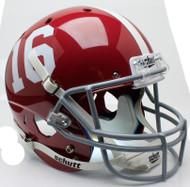 Alabama Crimson Tide #16 Schutt Full Size Replica Helmet