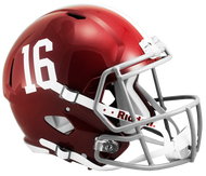 Alabama Crimson Tide #16 SPEED Riddell Full Size Replica Helmet