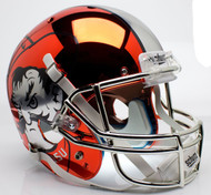 Oklahoma State Cowboys Orange Chrome Pistol Pete Schutt XP Full Size Replica Helmet