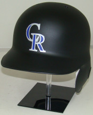 Colorado Rockies Matte Black Rawlings LEC Full Size Baseball Batting Helmet