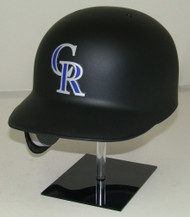 Colorado Rockies Matte Black Rawlings REC Full Size Baseball Batting Helmet