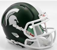 Michigan State Spartans Satin Revolution SPEED Mini Helmet
