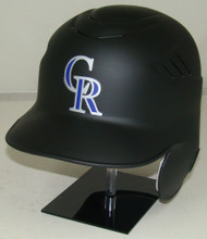 Colorado Rockies Matte Black Rawlings New Style Coolflo LEC Full Size Baseball Batting Helmet