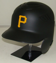Pittsburgh Pirates Matte Black Rawlings New Style Coolflo LEC Full Size Baseball Batting Helmet