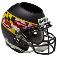 Maryland Terrapins Black Wing Mini Helmet Desk Caddy by Schutt