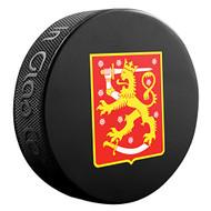 2016 World Cup of Hockey Team Finland Logo Souvenir Hockey Puck