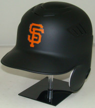 San Francisco Giants MATTE BLACK Rawlings LEC Coolflo Full Size Baseball Batting Helmet