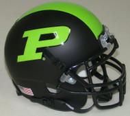 Purdue Boilermakers Alternate Black & Green Schutt Mini Authentic Helmet