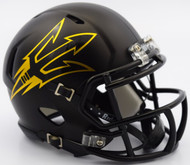 Arizona State Sun Devils SATIN BLACK Revolution SPEED Mini Helmet
