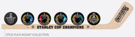 2016 Pittsburgh Penguins Stanley Cup Champions Hockey Stick & Puck Mount Set Collection