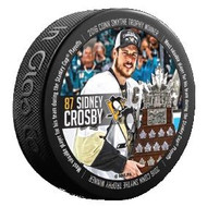 2016 Pittsburgh Penguins NHL Stanley Cup Champions Conn Smythe Sidney Crosby Sherwood Souvenir Puck