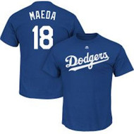 Kenta Maeda Los Angeles Dodgers Majestic Official Name and Number MEN'S T-Shirt - Royal