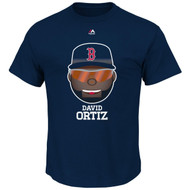 David Ortiz Boston Red Sox Majestic Official Name and Number YOUTH T-Shirt - EMOJI