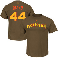 Anthony Rizzo Chicago Cubs Majestic 2016 MLB All-Star Game Name & Number Men's T-Shirt - Brown