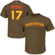 Kris Bryant Chicago Cubs Majestic 2016 MLB All-Star Game Name & Number Men's T-Shirt - Brown