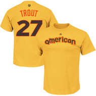 Mike Trout Los Angeles Angels of Anaheim Majestic 2016 MLB All-Star Game Name & Number Men's T-Shirt - Yellow