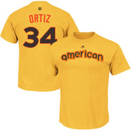 David Ortiz Boston Red Sox Majestic 2016 MLB All-Star Game Name & Number Men's T-Shirt - Yellow