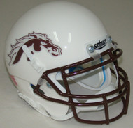 Western Michigan Broncos Alternate White Schutt Mini Authentic Helmet