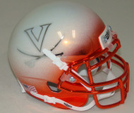 Virginia Cavaliers Alternate White Chrome Schutt Mini Authentic Helmet